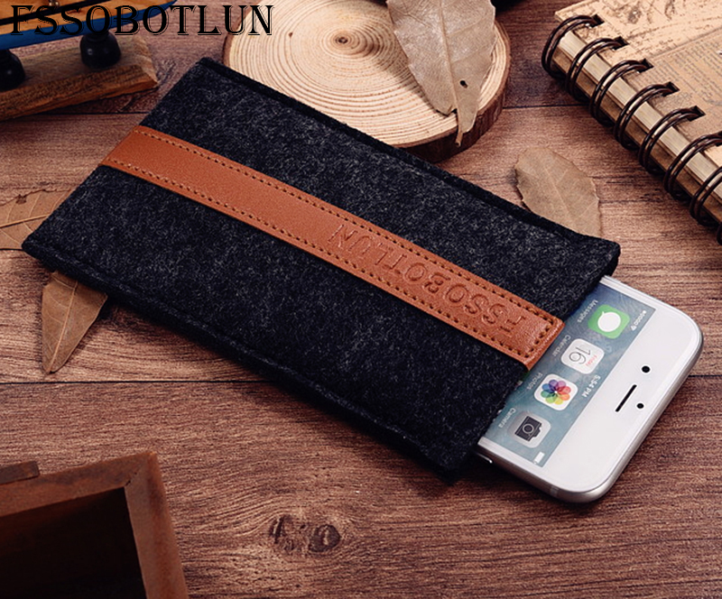 FSSOBOTLUN,2 Styles,For Alcatel PIXI4 5 3G 5010D 5010X Case Pocket Cover Sleeve Pouch Handmade Wool Felt Protective Case Bag image