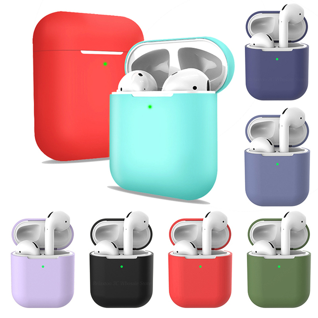 TPU Soft Silicone Cases For Airpods 2 Accessory Protector Cover Transparent Ultra Thin Cover Shockproof