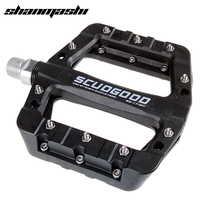 shanmashi nylon bicycle pedals 14mm cycling footrest big flat treat MTB mountain road bike pedals Cr Mo steel 370g antiskid pin