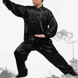 Prática Desgaste Desempenho para Das Mulheres Dos Homens de Ternos de Kung Fu Tai Chi Chuan Uniforme Wushu Tai Chi Roupas Performance de Palco