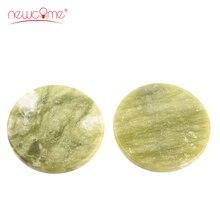 2 pcs round Jade Stone in Eyelash Glue for  Individual Extension Adhesive Pallet Stand Holder False Eye Lash