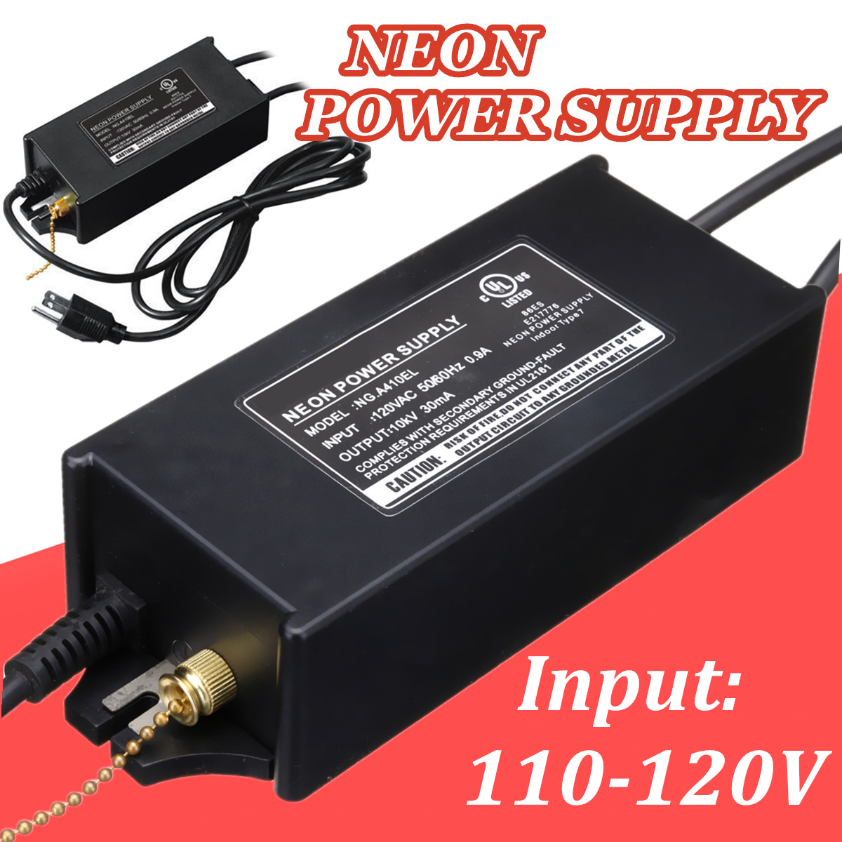 10KV 30mA Neon Sign Electronic High-frequency Transformer Power Supply Rectifier Ballast 10kv 30ma high frequency neon electronic transformer 100w load 10m neon power supply rectifier 220v ac