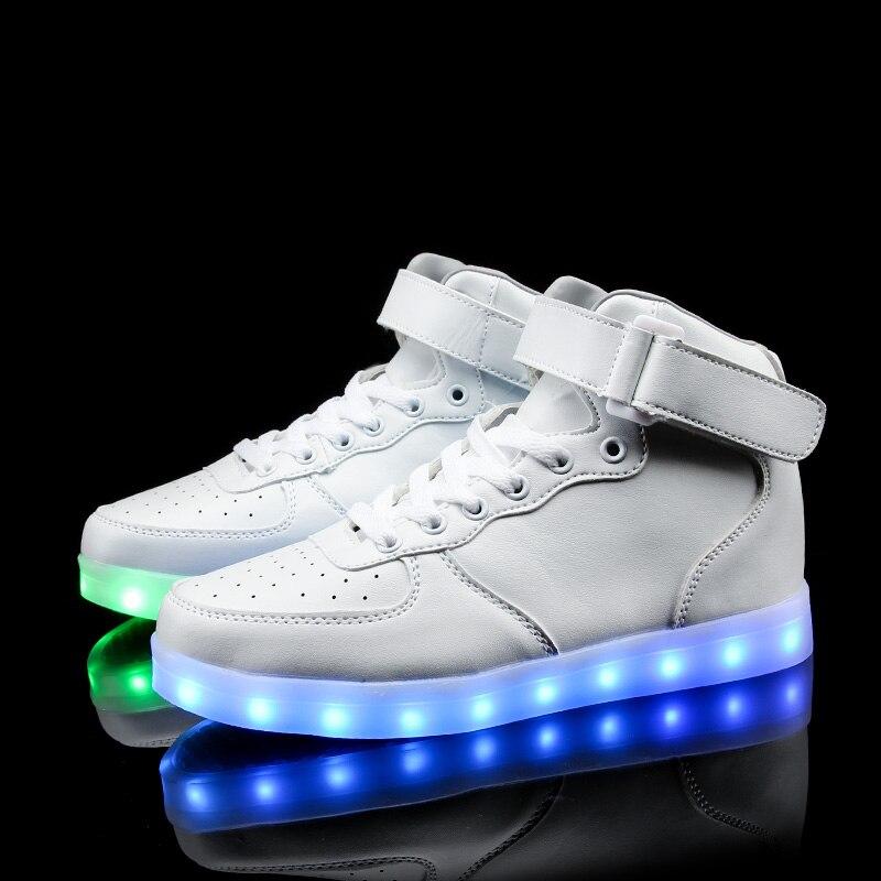 Uşaqlar üçün yüksək ayaqqabılar 7 Rəngli LED işıqlar, USB - Uşaq ayaqqabıları - Fotoqrafiya 6
