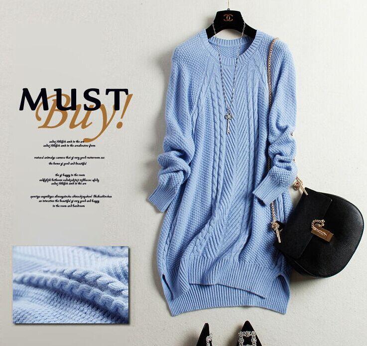forfremmelse! 100% Pure Cashmere Strikket Dame O-Neck Winter Sweater - Dametøj - Foto 6