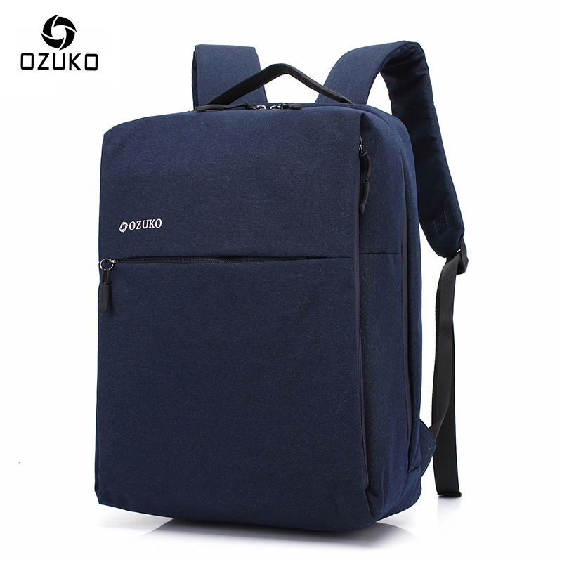 2017 OZUKO Brand Minimalist Business Laptop Men Backpack Waterproof Oxford Travel Mochila Women Men College Backpacks School Bag xiaomi 90fun brand leisure daypack business waterproof backpack 14 laptop commute college school travel trip grey