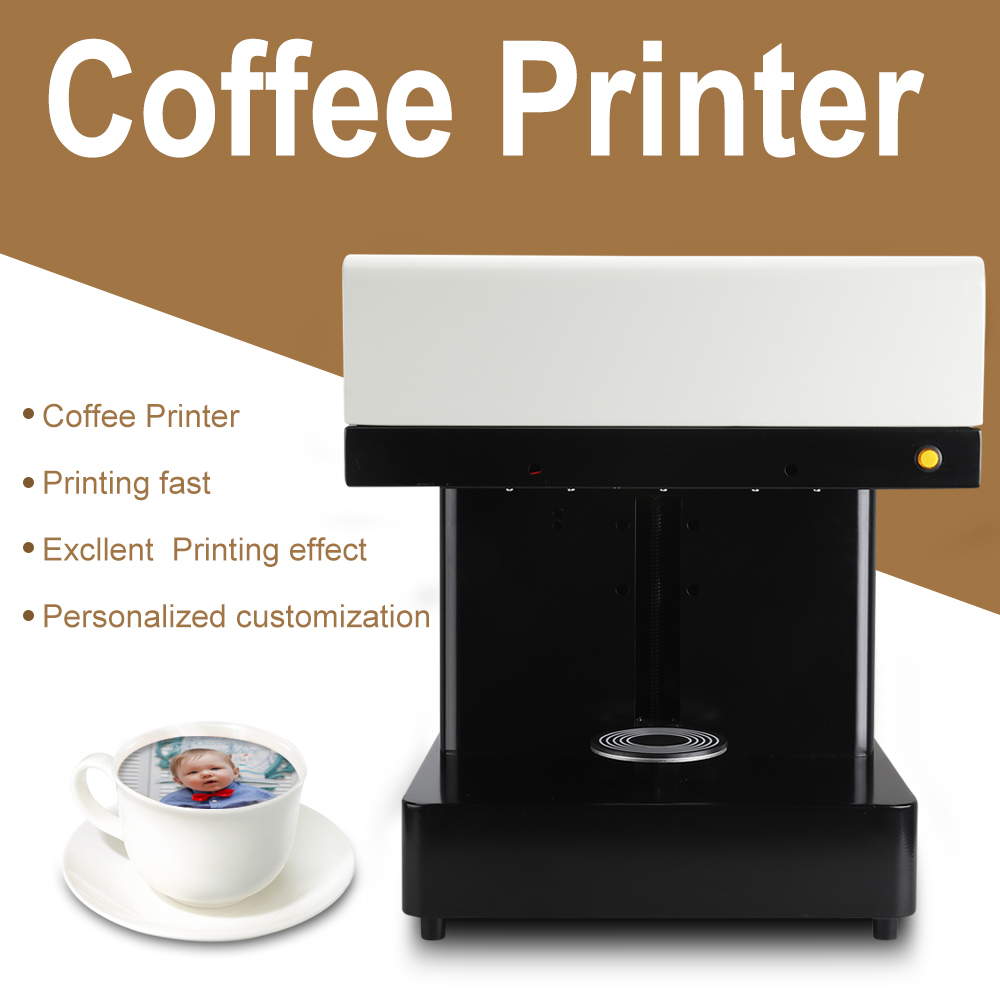 Fully Automatic DIY Latte Printer Coffee Printer selfie coffee Printing Chocolate Tea Cake Dessert Beverage Printing Machine coffee printer food printer inkjet printer selfie coffee printer full automatic latte coffee printe wifi function
