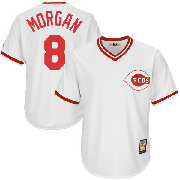 MLB Youth Cincinnati Reds Joe Morgan Baseball White Home Cool Base Player Jersey