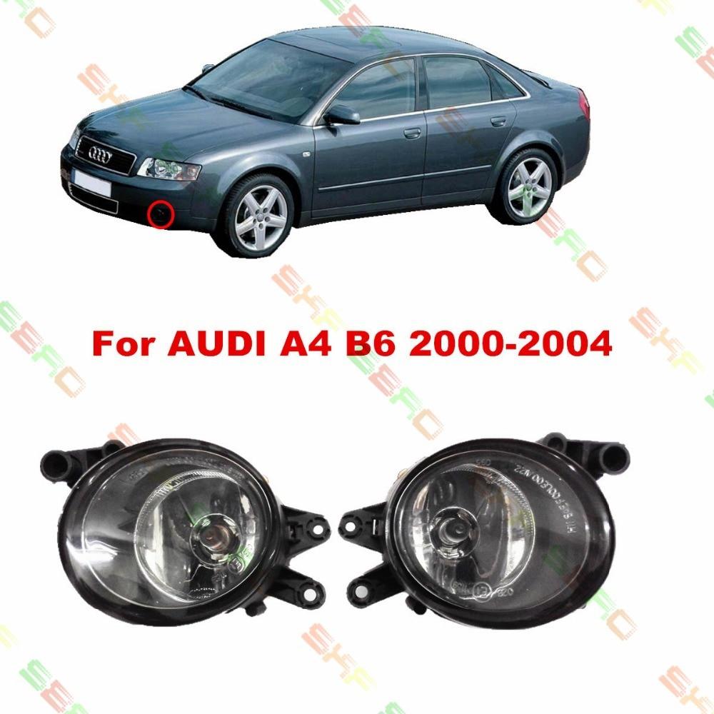 For AUDI A4 B6 2000/01/02/03/04 car styling fog lights 1 SET FOG LAMPS комплект адаптеров ford focus 1 audi a4 до 2000