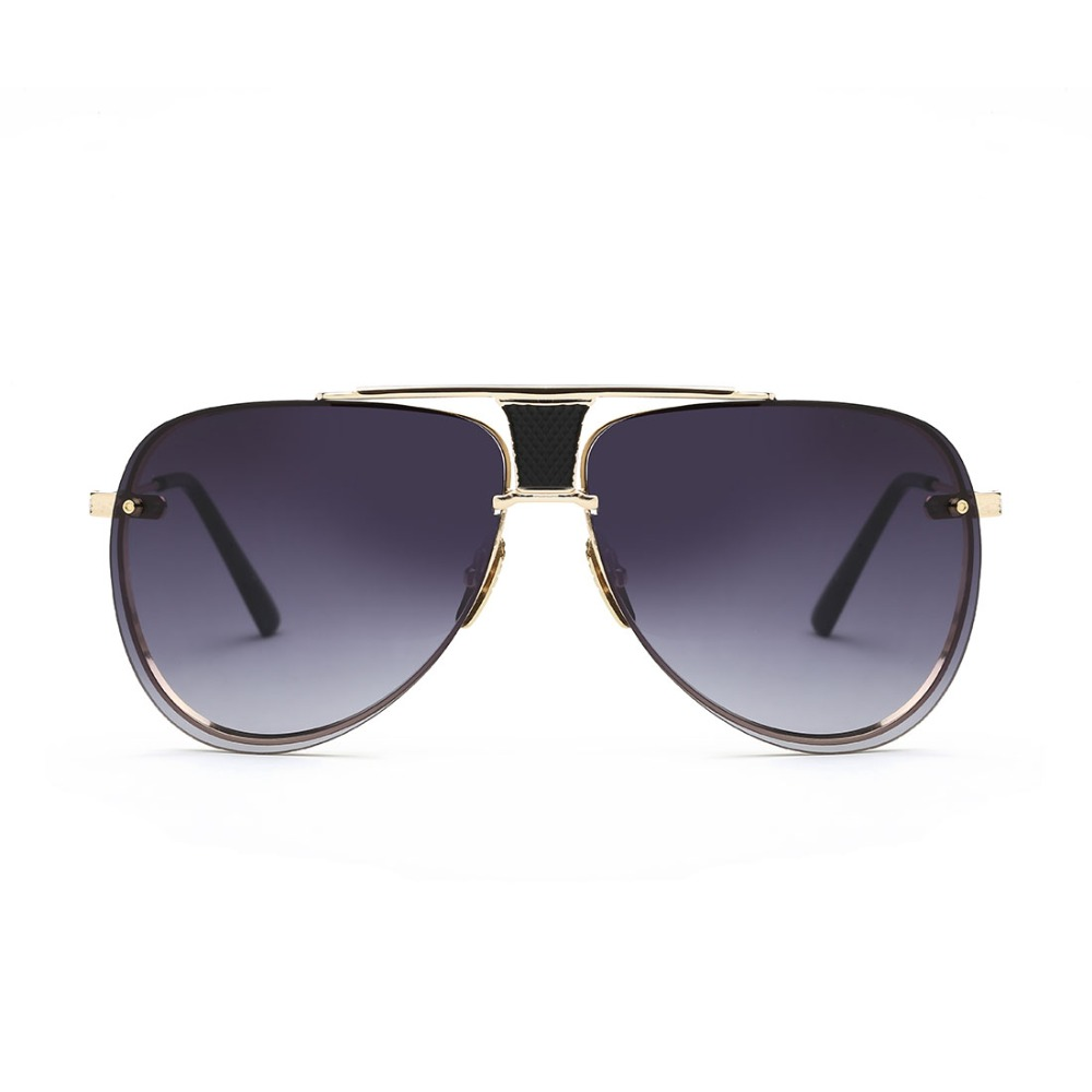 cf6654e6f151b ROZA Lente Revestimento de Óculos De Sol Dos Homens Da Marca Designer Quadro  de Cobre Venda Quente Pop Óculos de Sol Do Vintage UV400 QC0440 em Roupa ...