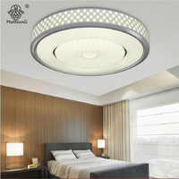 Round Ceiling Lamp Contemporary Fashion LED Acrylic Cylinder Designer AC Remote Control Lighting For Hall Living