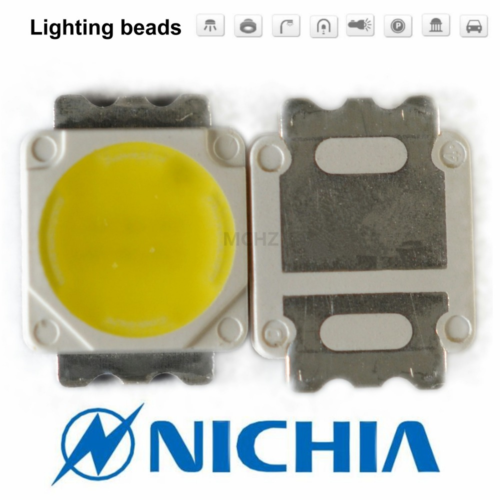 80PCS 5050 5060 5054 3W 3V-4.2V Warm White High Power LED Emitter Warm White Natural White NICHIA NS6W183A NS6W183T