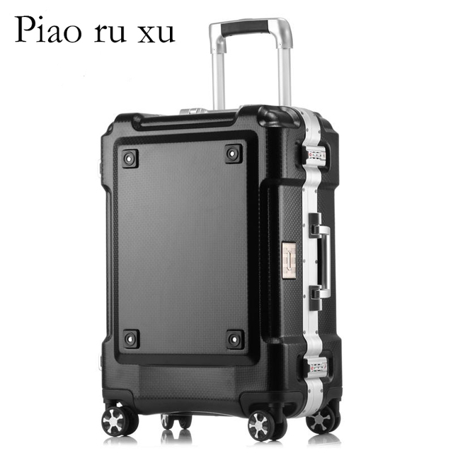 Aluminum frame+PC children's suitcases trolley luggage, 20″24″26″29″inch carry on luggage,water proof rolling luggage