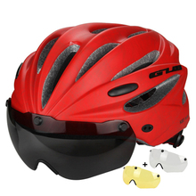 GUB Cycling Helmet Ultralight Magnetic Goggles Bike Bicycle Helmet With Sunvisor and Lens Casco Ciclismo