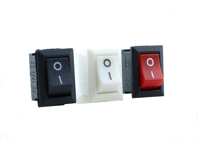 uxcell/® SPST LED Backlit Rocker Switch Red Lamp Round Boat ON-Off AC 250V//3A 125V//6A 3-Pin 2 Position