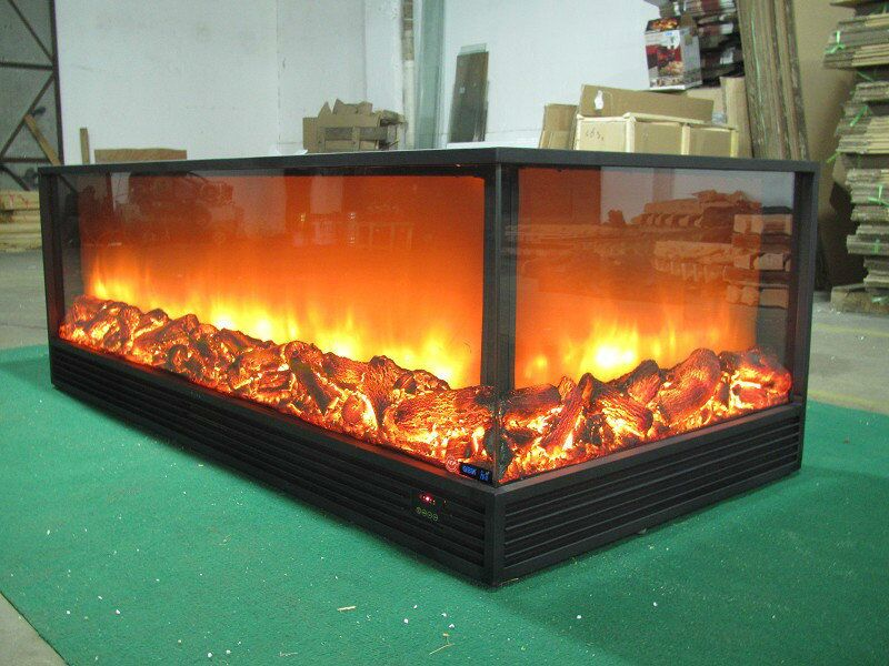 3 Sided 220v Electric Fireplace Insert In Electric Fireplaces From