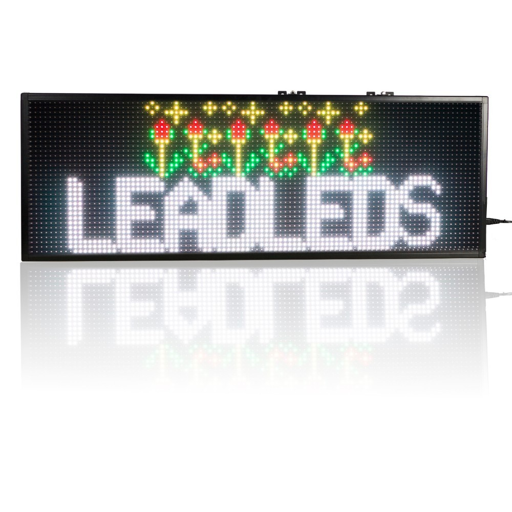30 x11insh RGB Full color Programmable Led Sign Scrolling Message display Board for Your Business - Indoor led display Board30 x11insh RGB Full color Programmable Led Sign Scrolling Message display Board for Your Business - Indoor led display Board