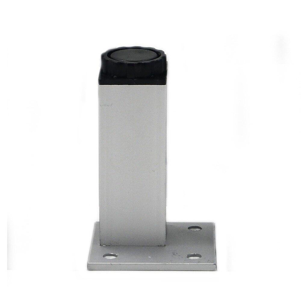 4pcs 12cm Furniture Legs Cabinet Feet Aluminum Metal Table Adjustable  Square Base with Screws(China