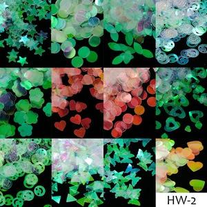 Image 2 - 1 fall Meerjungfrau Symphonie Nail art Glitter Pailletten Flocke Holographische Laser Mixed Form 3D Schmetterling Scheibe DIY Maniküre Decor JIHW 2