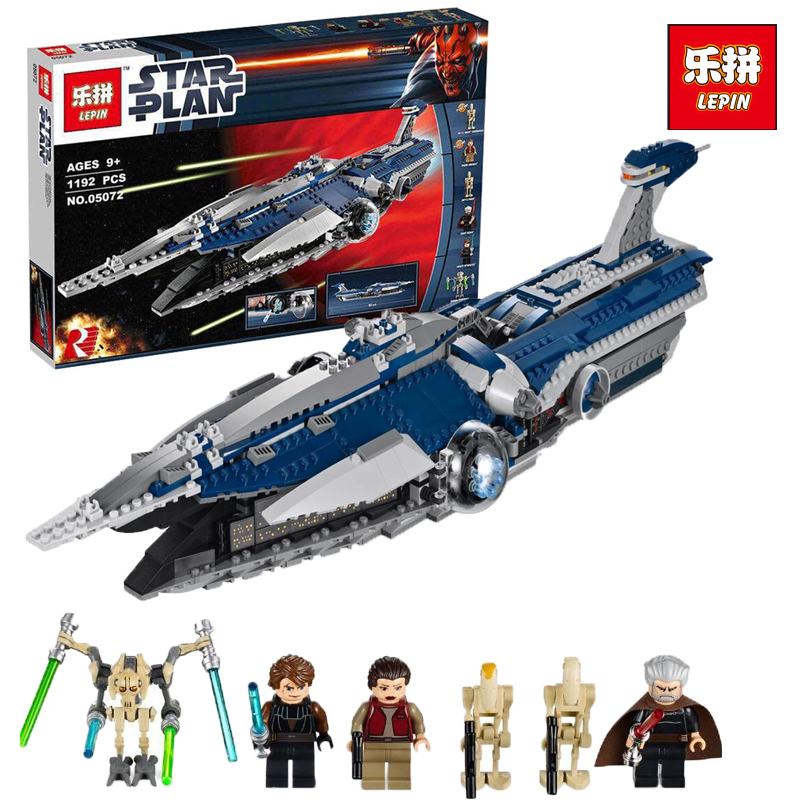 Lepin 05072 1192Pcs Star The Malevolence Model wars Building Kits Blocks Bricks Toy Children Compatible With legoINGlys 9515 new lepin 16009 1151pcs queen anne s revenge pirates of the caribbean building blocks set compatible legoed with 4195 children