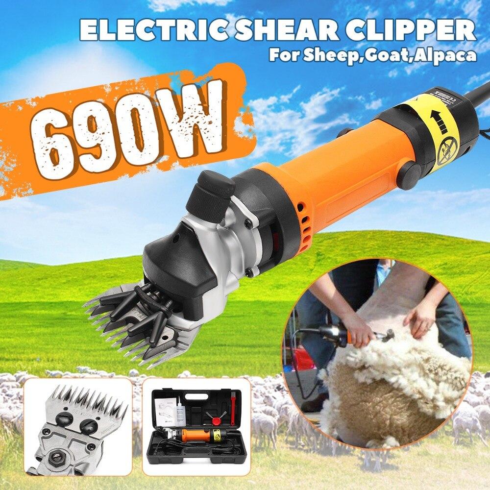 690 w US/EU Plug Électrique Shearing Fournitures Clipper Tondre les Moutons Chèvres Alpaga Tondeuse Cisailles Pour Laine Électrique tonte des moutons