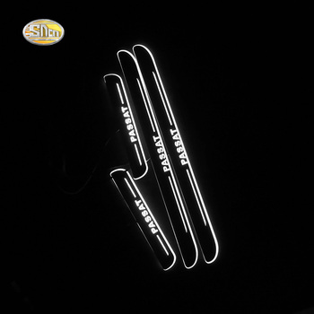 цена на SNCN LED door sill for Volkswagen VW Passat B7 B8 B9 Led moving door scuff plate welcome pedal accessories