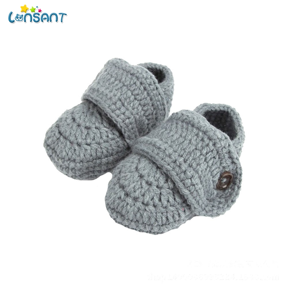 LONSANT Cute 2018 Crib Crochet Casual Baby Handmade Knit Woolen Sock Infant Shoes Baby Shoes 0-1 years old