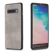 For Coque Samsung S10 Plus Case Luxury Soft Denim And TPU 2 in 1 Funda S10e Capa Phone