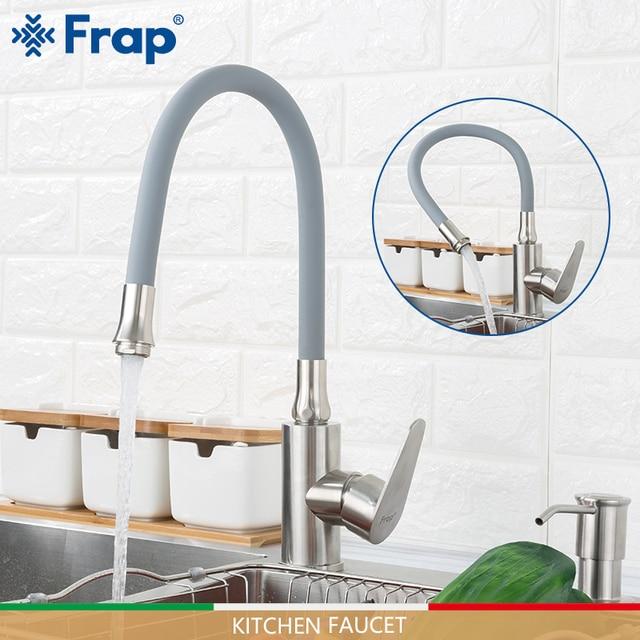 FRAP keuken kranen rvs keuken mengkraan water kranen koud en warm kraan nozzle waterbesparende sink kranen torneira