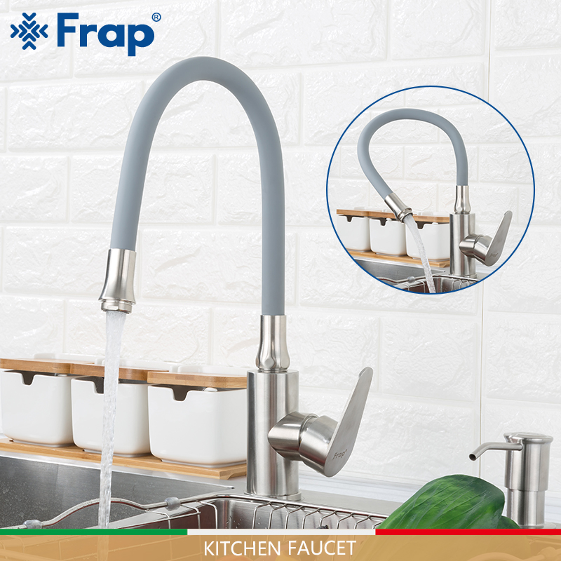 FRAP Kitchen Faucets Stainless Steel Kitchen Mixer Faucet Water Taps Cold And Hot Faucet Nozzle Water Saving Sink Taps Torneira