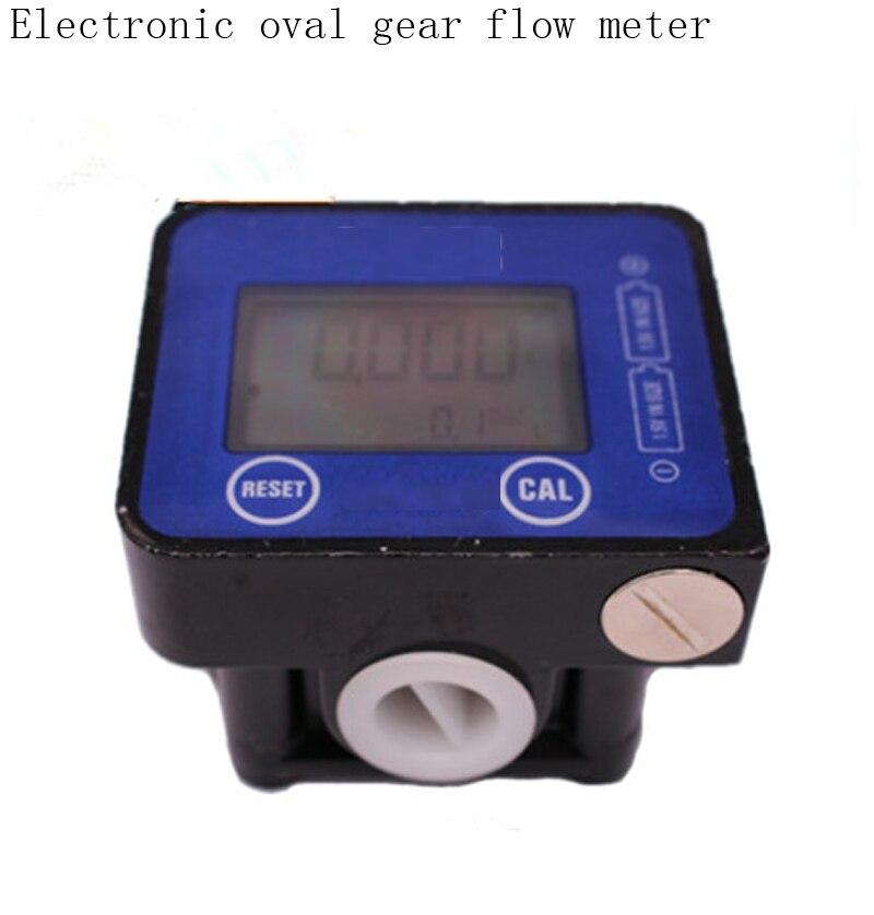 ФОТО electronic elliptical gear flow meter digital display oval Turbine flowmeter Diesel / gasoline / kerosene / oil meter