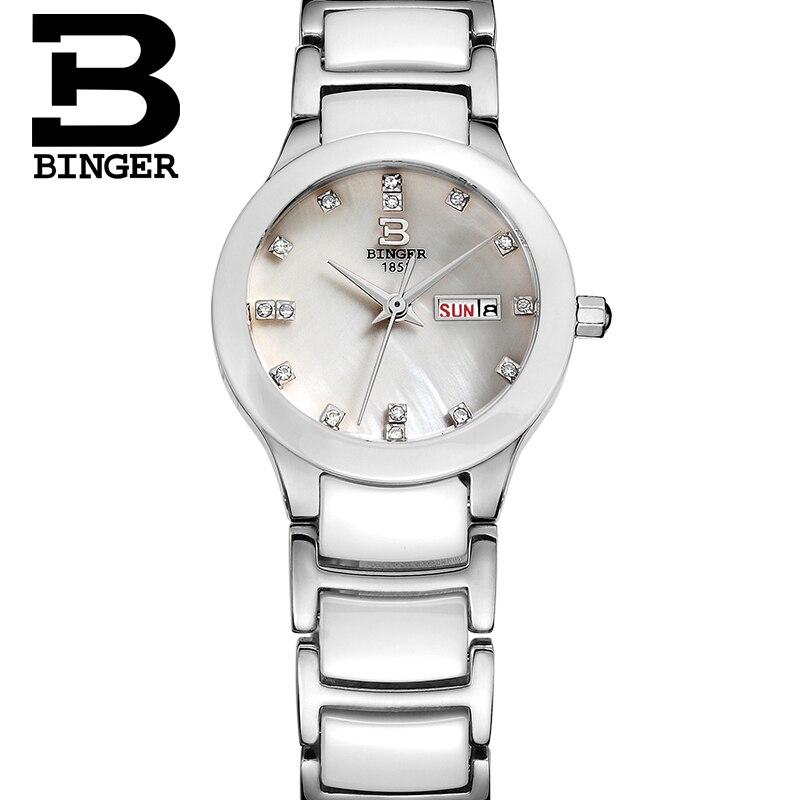 Saatler'ten Kadın Saatleri'de BINGER kadın Saatler kadın üst ünlü Marka Lüks Casual Kuvars İzle kadın Bayanlar saatler Kadın Saatı relogio feminino'da  Grup 1