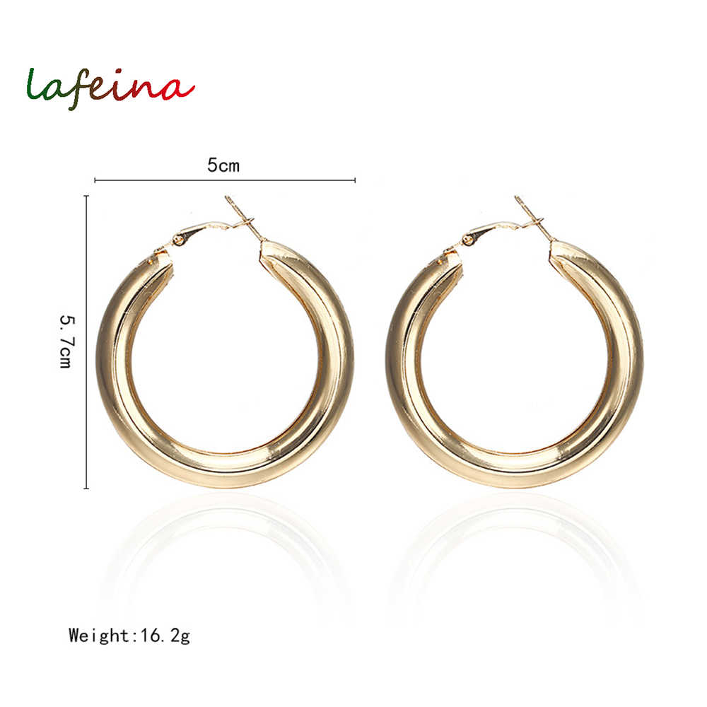 Fashion Gold Color Oversize Hoop Earrings For Women Bohemia Wide Big Round Statement Earring Vintage Jewelry Wholesale