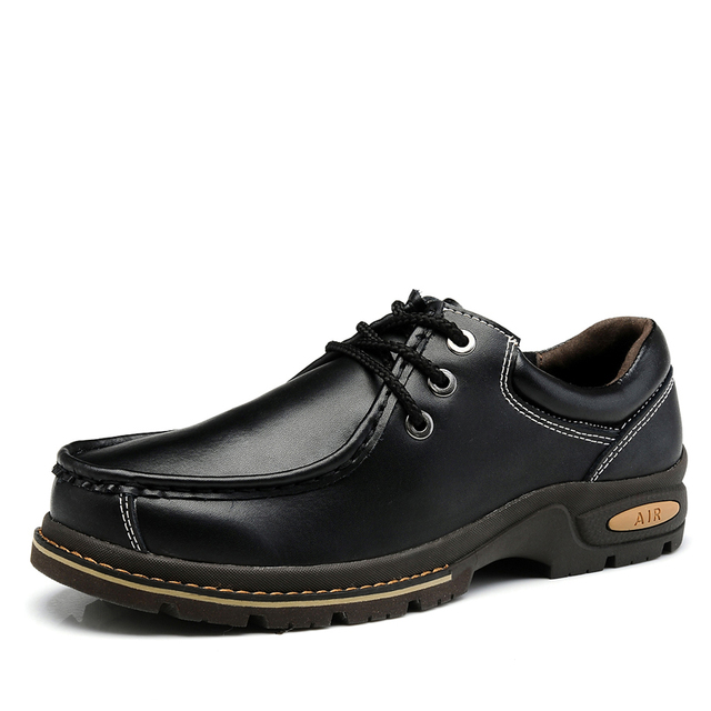 TBA 2016 Venta Caliente de Los Hombres de Punta Redonda Martin Botas de Cuero Genuino Zapatos casuales Zapatos Casuales Británico de Primavera Y Otoño de Encaje Hasta Las Botas