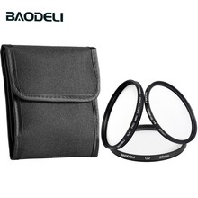 BAODELI One Set Filtro Concept UV CPL CLOSE UP 4 Lens Filter 49 52 55 58 62 67 72 77 82 mm For Camera Cannon Nikon Sony A6000