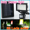 1pcs Outdoor Solar Lights Power Garden Lights 60 LEDs Body Motion Sensor Solar Floodlights Spotlights SolarLamps Wholesale
