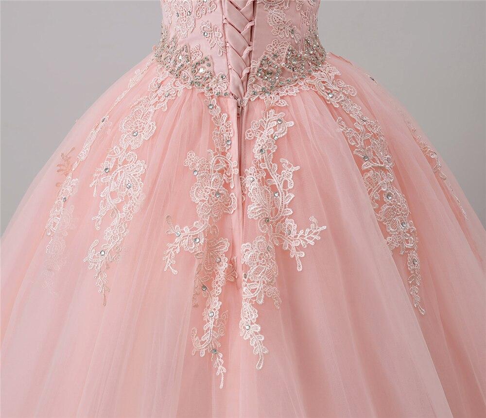 Bealegantom Nowe sukienki Quinceanera Scoop 2018 Suknia balowa z - Suknie specjalne okazje - Zdjęcie 6