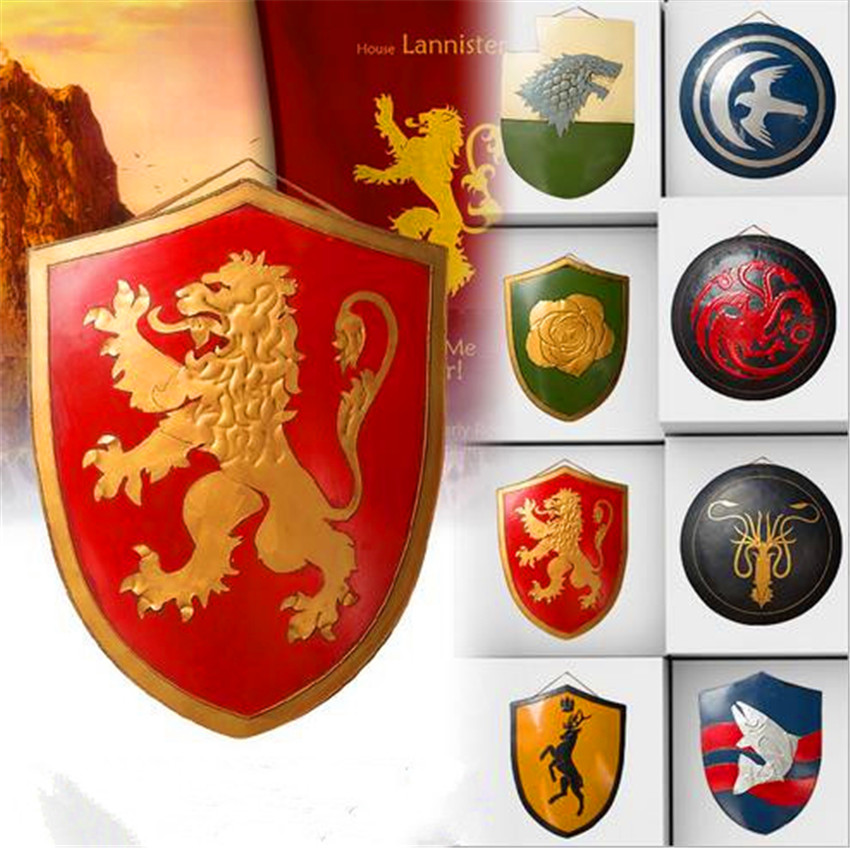 Game of Thrones cospay metal Shield House figure Shield