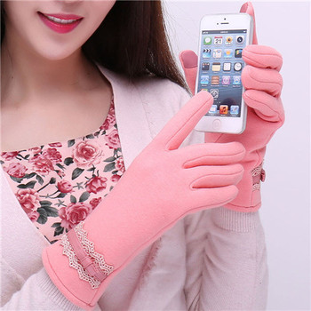 FEITONG Fashionable and Warm Women Touch Screen Gloves with a Special Conductive Fiber Allowing to Full Navigation Control of Touch Screen Device