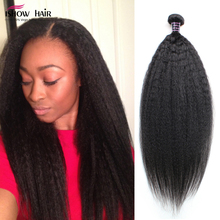 Best Quality 7A Brazilian Virgin Hair Kinky Straight Brazilian Hair Weave Bundles 4pcs Yaki Straight Human Hair Coarse Yaki Hair