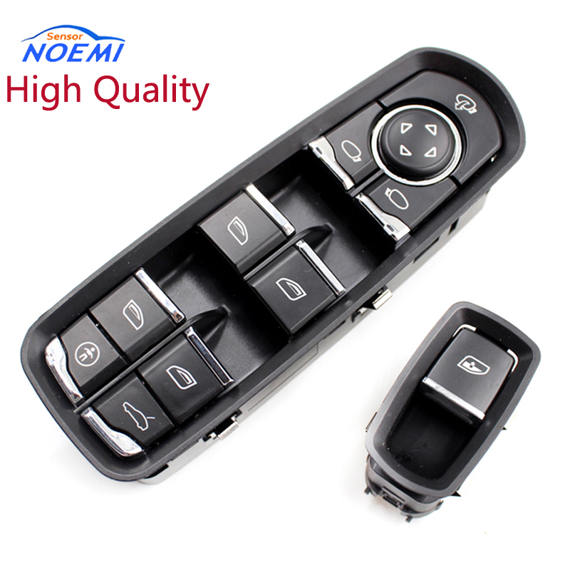 YAOPEI 1switch 1button 7PP959858MDML 7PP959855C 13 PINS For Porsche Panamera Cayenne Electric Power Window Control Switch