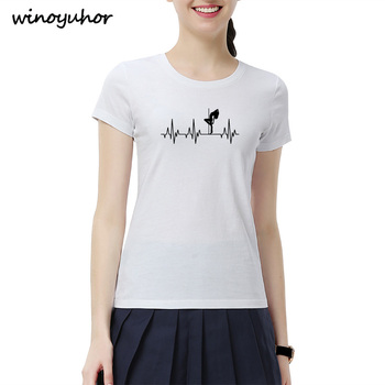 54b28b990 T-Shirts. Cheap T-Shirts. Heartbeat Of Pole Dance T Shirt Women Summer New  Fashion Short Sleeve Cotton T shirts Funny
