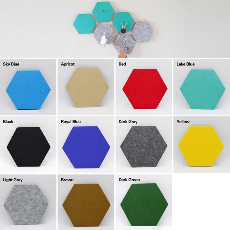 Wall File Storage Hexagonal Message Board Creative Felt Wall Hanging  Storage Intelligence In Multicolor