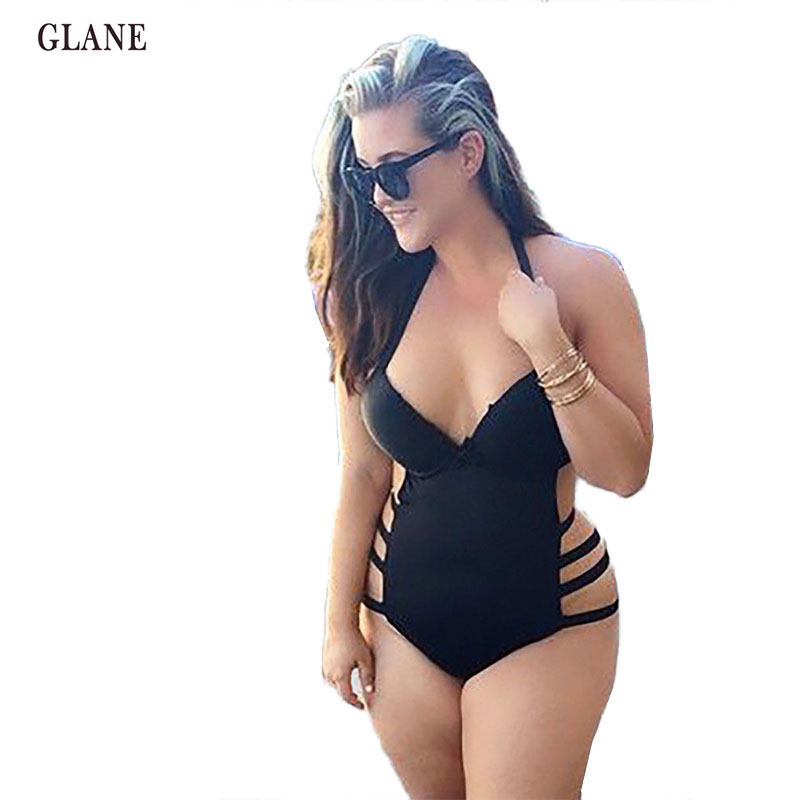 Push up Black High Waist Swimsuit L XL XXXL XXL big size Women Bathing Suitset Retro Beachwear Plus Size Swimwear Padded Bikini lena gaga swimsuit cover up set bikini 2017 xxxl xl vintage bikini retro fat breast big bust bow bikini plus size swimwear women