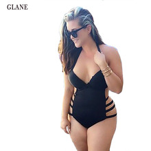 Push up Black High Waist Swimsuit L XL XXXL XXL big size Women Bathing Suitset Retro Beachwear Plus Size Swimwear Padded Bikini