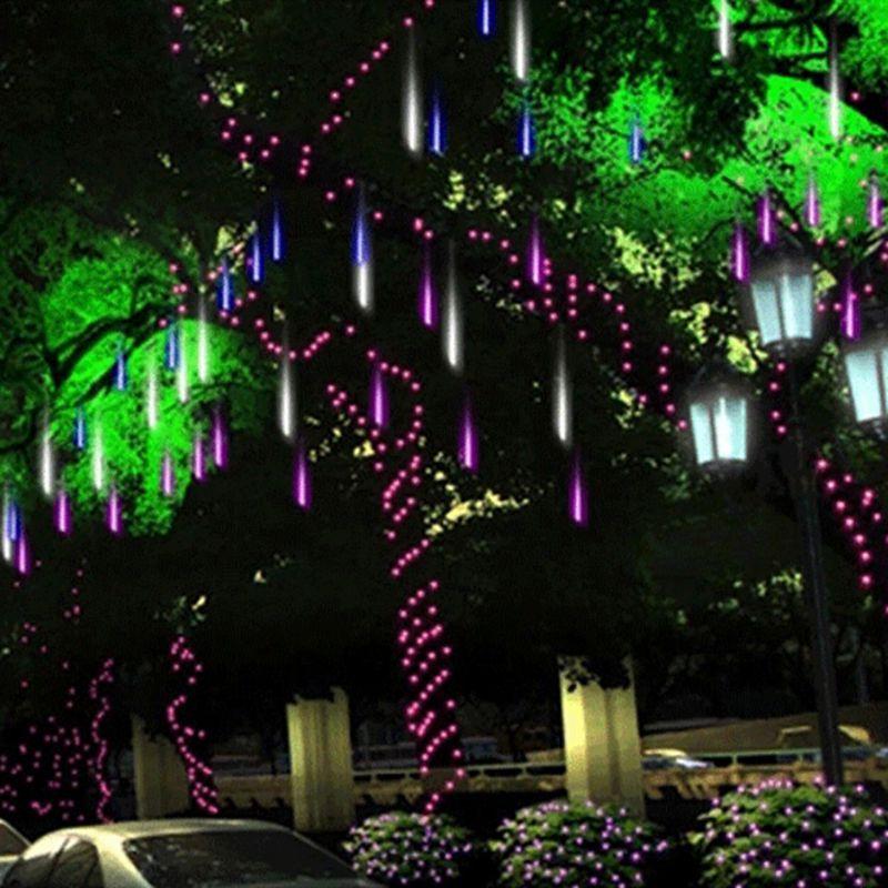 Многоцветные 30 см метеорный поток Дождь Трубы AC100-240V LED Рождество огни Свадебная вечеринка сад Xmas свет шнура Открытый oazh