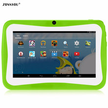 7 inch Tablet Computer Children Quad Core Wi-Fi 8GB 1024x600 Screen Children Education Games BabyPAD Birthday Gift(China)