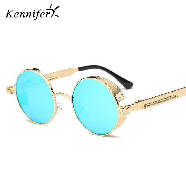 cbd805ba2c Kennifer Round Metal Sunglasses Steampunk Men Women Fashion Glasses Brand  Designer Retro Vintage Sunglasses UV400 Hisper Eyewear