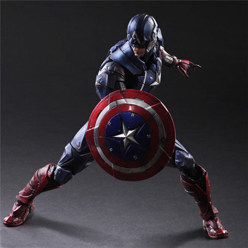 Free Shipping 11 PA KAI Super Hero The Avengers Captain America Boxed 27cm PVC Action figure Collection Model Doll Toy Gift
