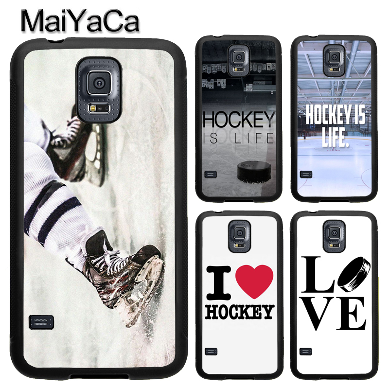 MaiYaCa Ice Hockey is Life Sport TPU Phone Case For Samsung Galaxy S4 S5 S6 S7 edge S8 S9 Plus Note 8 5 4 Full Back Cover