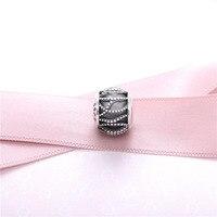 New 925 Silver Intertwined Brilliant Glass Beads Fit Pandora Bracelet Bangles Charms Original Fashion Women Fine